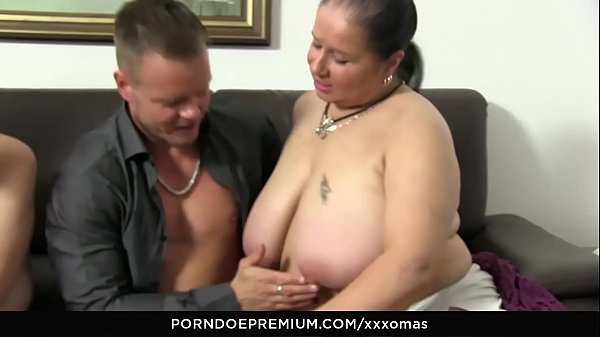 XXX OMAS - Kinky grannies drilled hardcore and cum covered in foursome Thumb