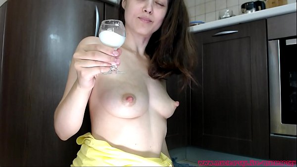 Mom with sexy voice drinking her milk with you and milking some more