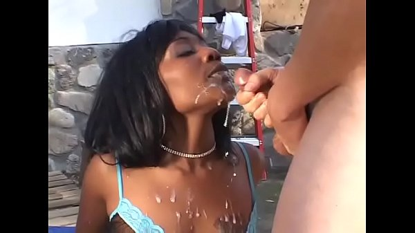 Cute black girl gangbanged by a bunch of white ...