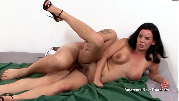 Shy busty MILF with hairy pussy Thumb