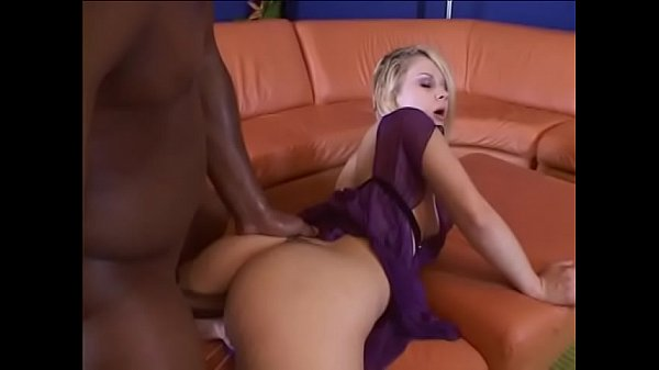 Pretty blonde gets anal and a creampie from a b...