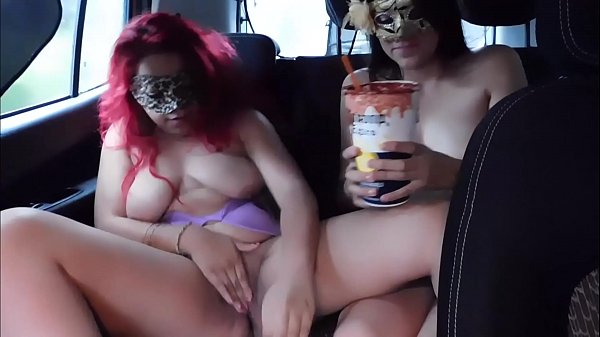 Samantha and her cousin get naked in the uber, watch how they suck it !!! by weedhotsama