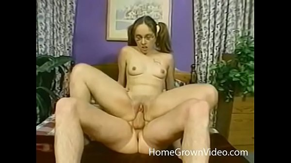 Pigtail amateur takes on a big cock