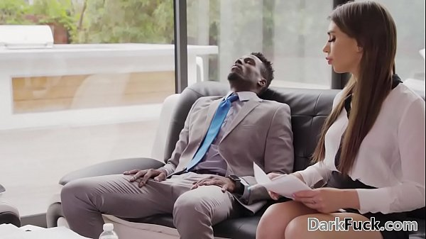 Stressed out colleagues have interracial anal sex - Joseline Kelly Thumb