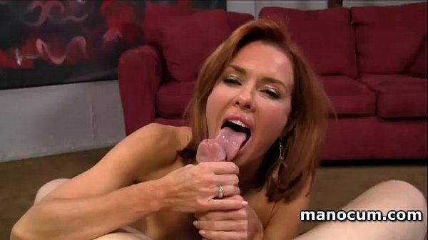 POV redhead busty hooker giving amazing handjob...