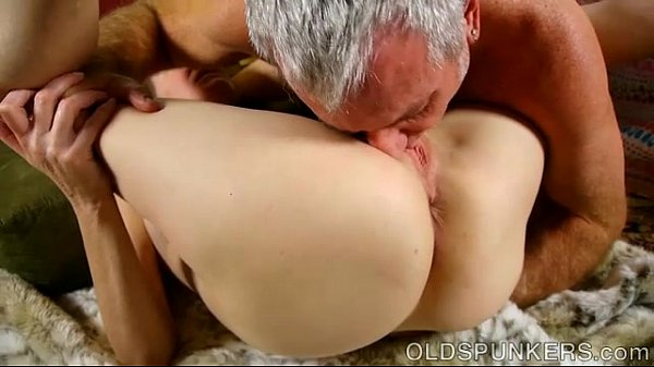Super horny old spunker sucks cock while fuckin...