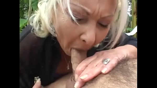 Grandma bends over and gets fucked in the ass