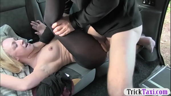 Blonde passenger in pantyhose pounded Thumb