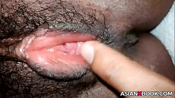 asian fingering pussy up close
