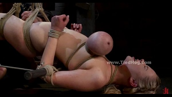 Blonde sex slave with large breasts (Stop jerking off! Visit RealOne24.com)
