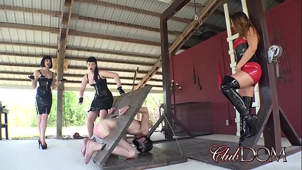 ClubDom Mistresses Dominate And Cane Their Slave Thumb