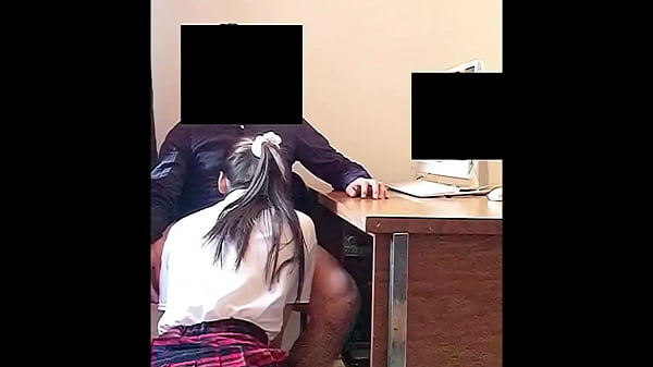 Teen School Girl SUCKS his Teacher's Dick in the School Office for a Better Grades! Real Amateur Sex!