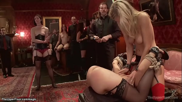 Tied slaves spanked and bdsm fucked