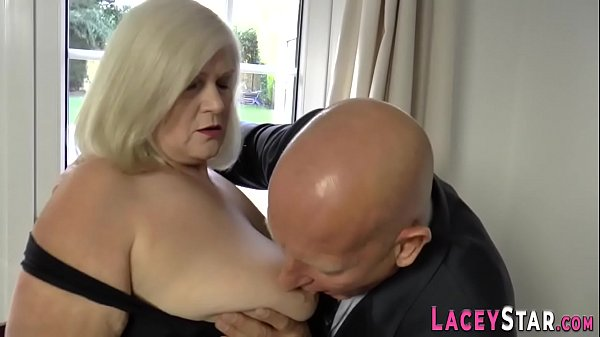Granny gobbles and rides fat dick