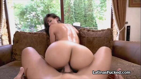 Beautiful big ass Latina works a hard cock