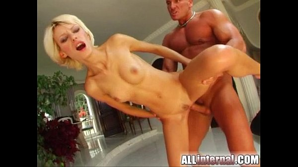 All Internal Blonde gets nailed and a thick load of cum oozes out Thumb