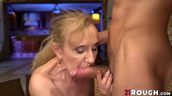 Busty Nanney drilled doggystyle after blowing young cock