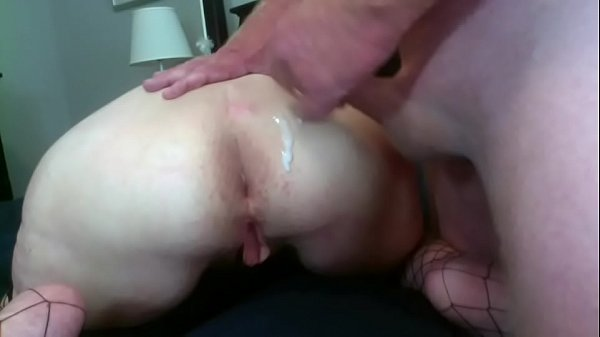 Mature Husband Jacks Off While Playing With Wife's Ass Big Cumshot