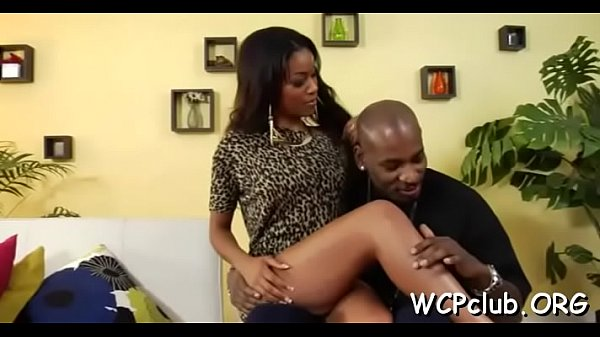 Wench rides up black dick and starts performing...