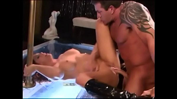Gorgeous exotic dancer allows horny muscular man to fuck her in all holes right on the dancefloor of strip club