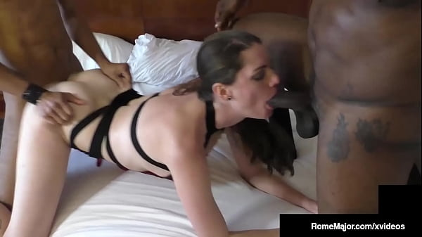 Finger Cuffing Fun With Wife Aria Khaide By Big Cock Rome Major & Bro!