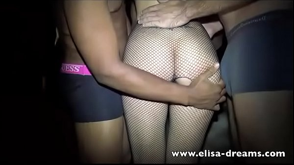 Married Woman gets Fucked by many guys in a club