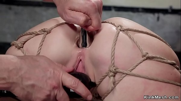 Busty slave fucked in back arch bdsm