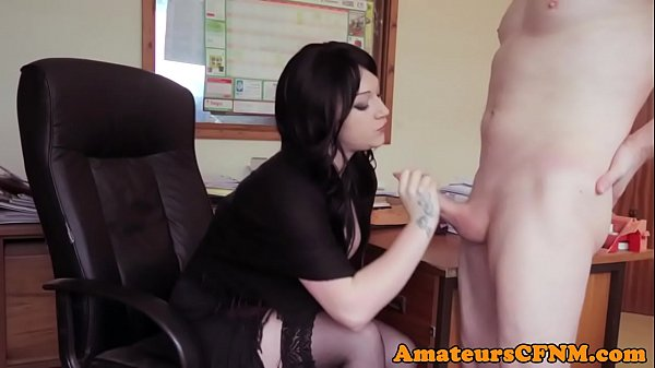 Office CFNM femdom sucking coworkers cock Thumb