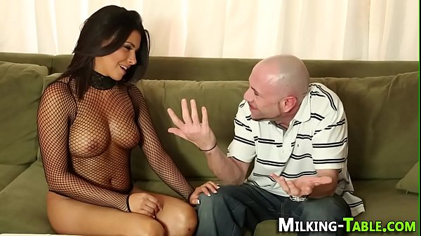 Milking table babe sucks Thumb