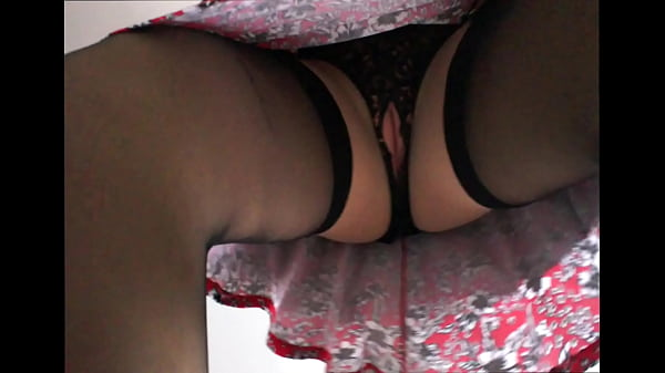 Alison in sexy crotchless panties