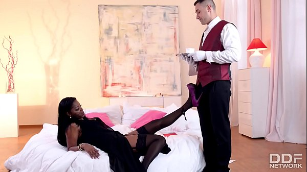 Butler is granted epic footjob before pussy ban...