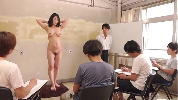 Subtitled CMNF ENF shy Japanese milf nude art class in HD Thumb