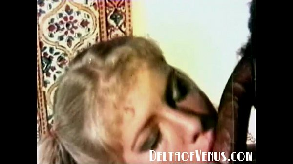 1970s Vintage Blonde, Interracial Threesome