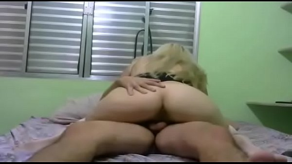 Blonde girl sitting on the dick of her husband's friend