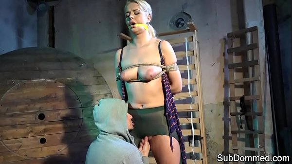 Beautiful submissive bound and flogged Thumb