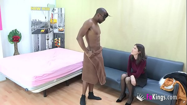 Babe came only to hire a stripper, but SHE HAD TO TRY DAT BLACK COCK! Thumb