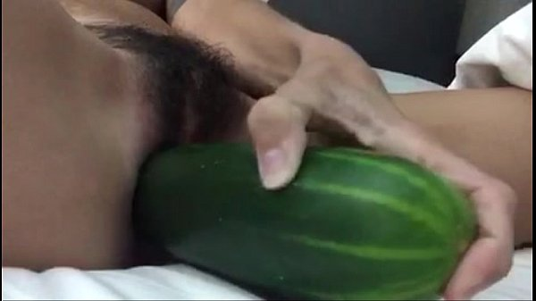 hairy pussy meets cucumber