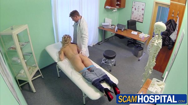 Sexy blonde Tracy sucks and fucks the pervy doctors big cock Thumb