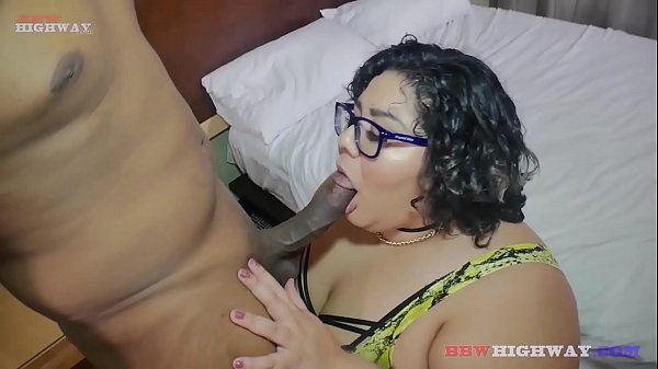 guy shoves his bbc down nerdy asian bbw throat