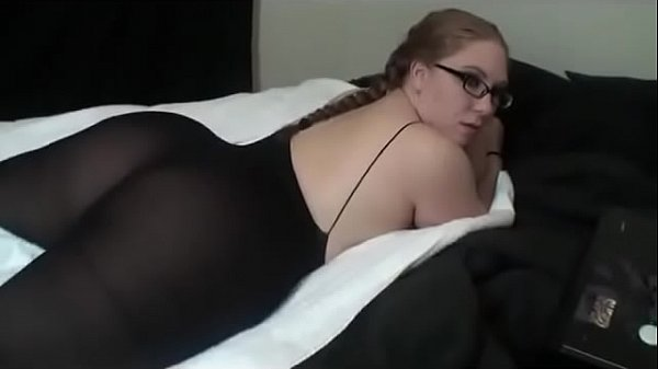 Hot BBW In Pantyhose And Glasses I met on Bbwapa.com Grinds Away On Bed