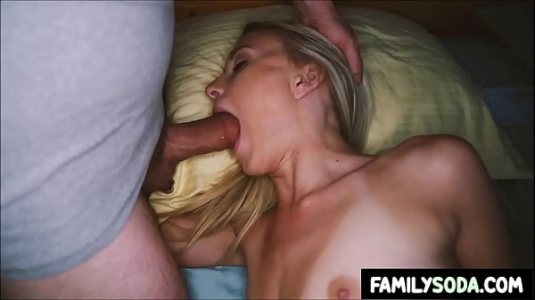Brother surprises Sister with his cock in her mouth