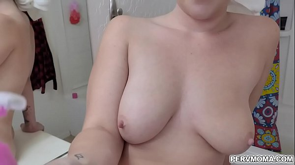 Pervy Stepson helps his stepmom Megan Maiden shave her pussy and later will give him a reward