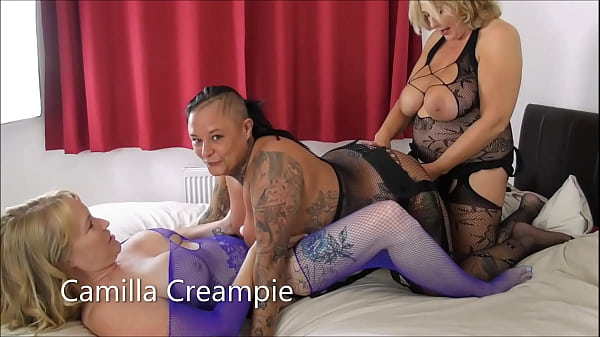 Camilla, Cheyenne Rose and Mackenzie Page Strap-on Threesome Thumb