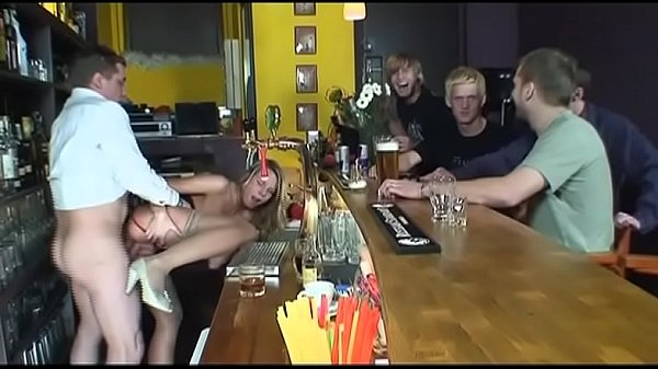 blonde got cum gangbang Thumb