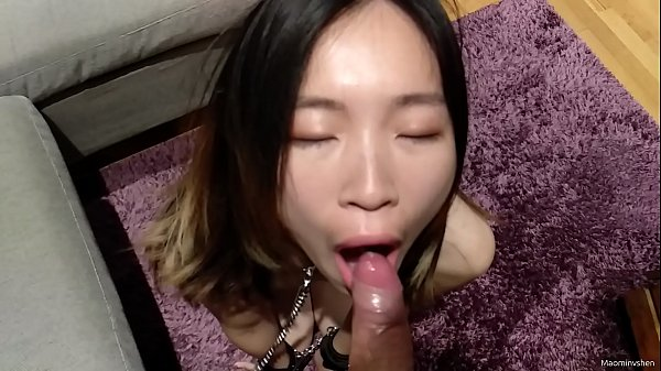 My Chinese slave sucks my dick until I cum inside her mouth (POV oral creampie)