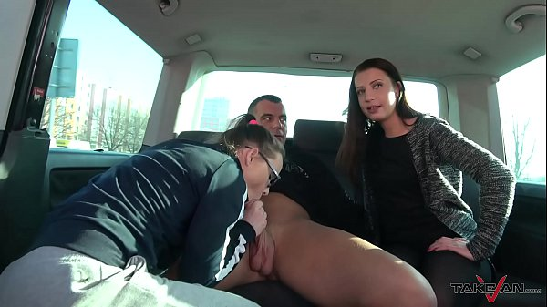 Real whore found right after visit client & convinced to fuck for free in van