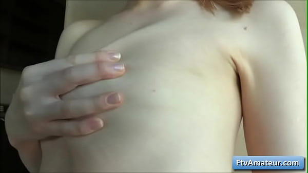 Young blonde amateur cutie Alana play with her perky nipples and her natural boobs Thumb