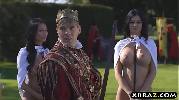 King fucks his busty slutty servants Jasmine and Anissa Thumb