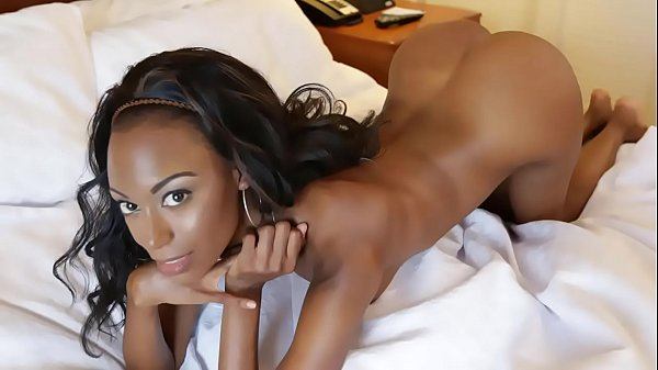 Hot black girl sucks and fucks hard