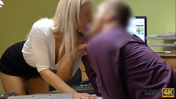 LOAN4K. Dude helps a blonde chick when she needs extra money for a car